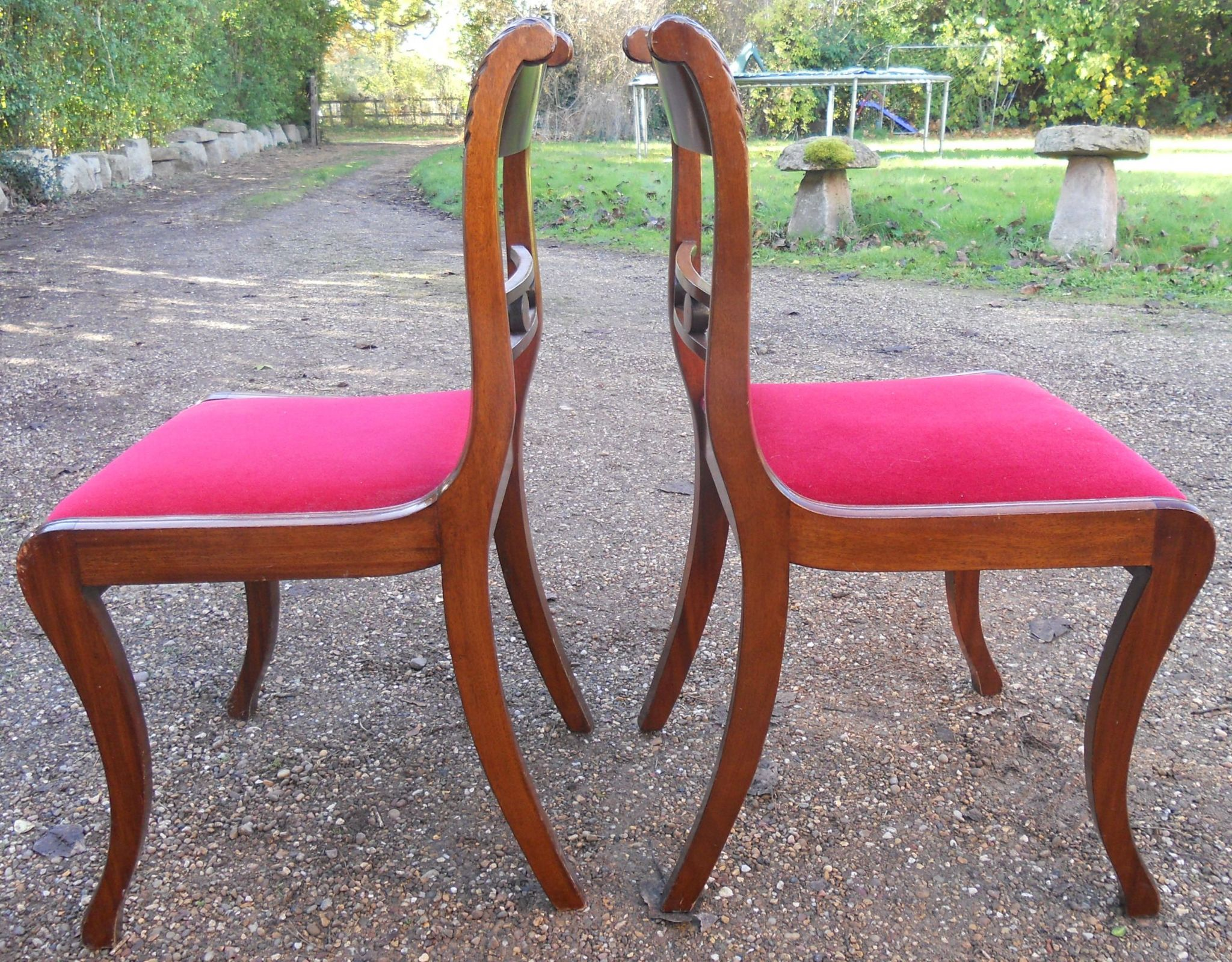 of Eight Regency Style Mahogany Dining Chairs